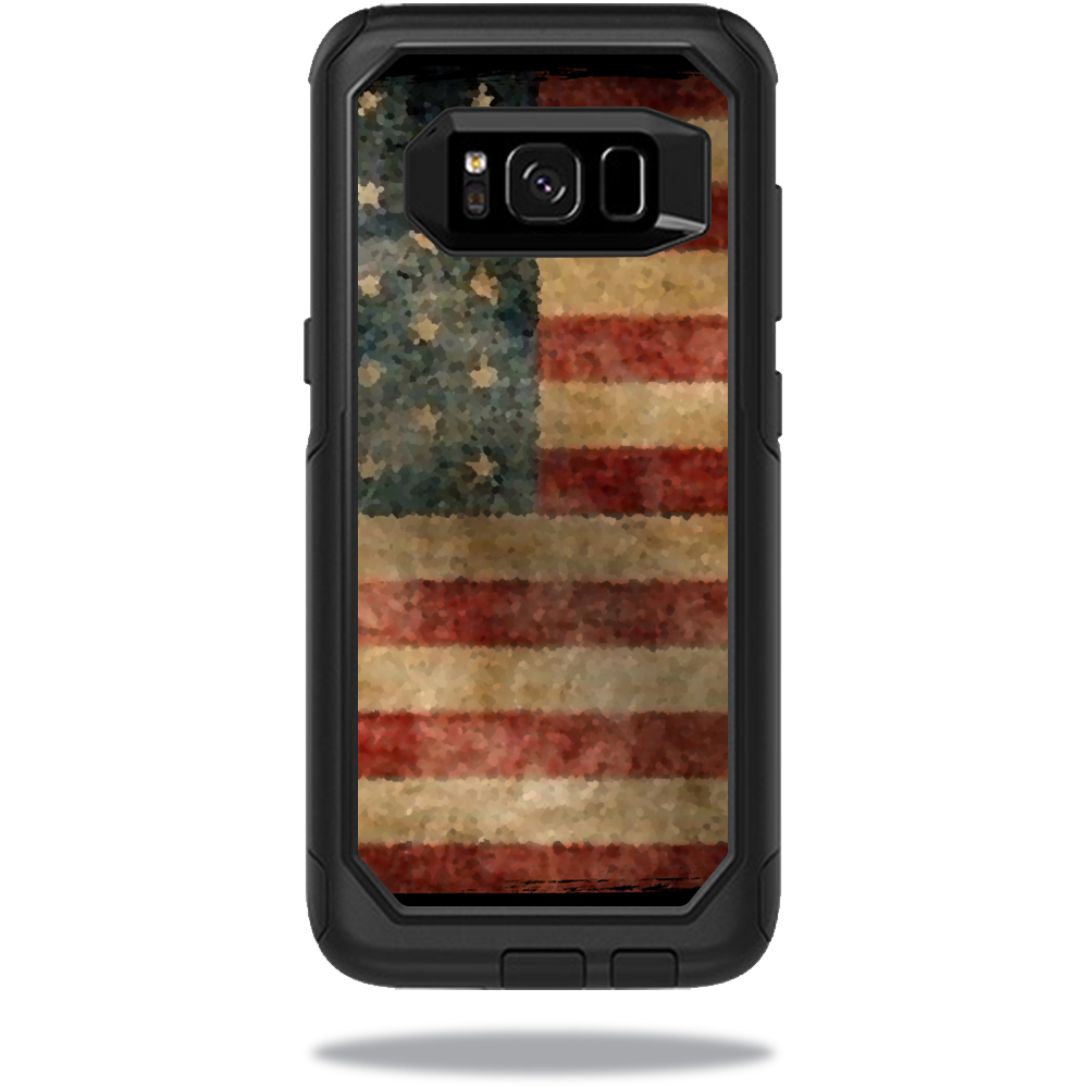 MightySkins Protective Vinyl Skin Decal for OtterBox CommuterSamsung Galaxy S8 Case sticker wrap cover sticker skins Vintage Flag