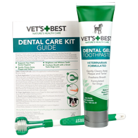 Vets Best Dog Toothbrush and Enzymatic Toothpaste Set   Teeth Cleaning and Fresh Breath Kit with Dental Care Guide   Vet Formulated
