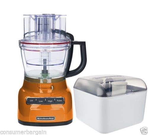 KitchenAid R-KFP1333TG 13Cup 3.1L W/ WIDE MOUTH FOOD PROCESSOR EXACTSLICE SYSTEM TANGERINE (Certified Refurbished)