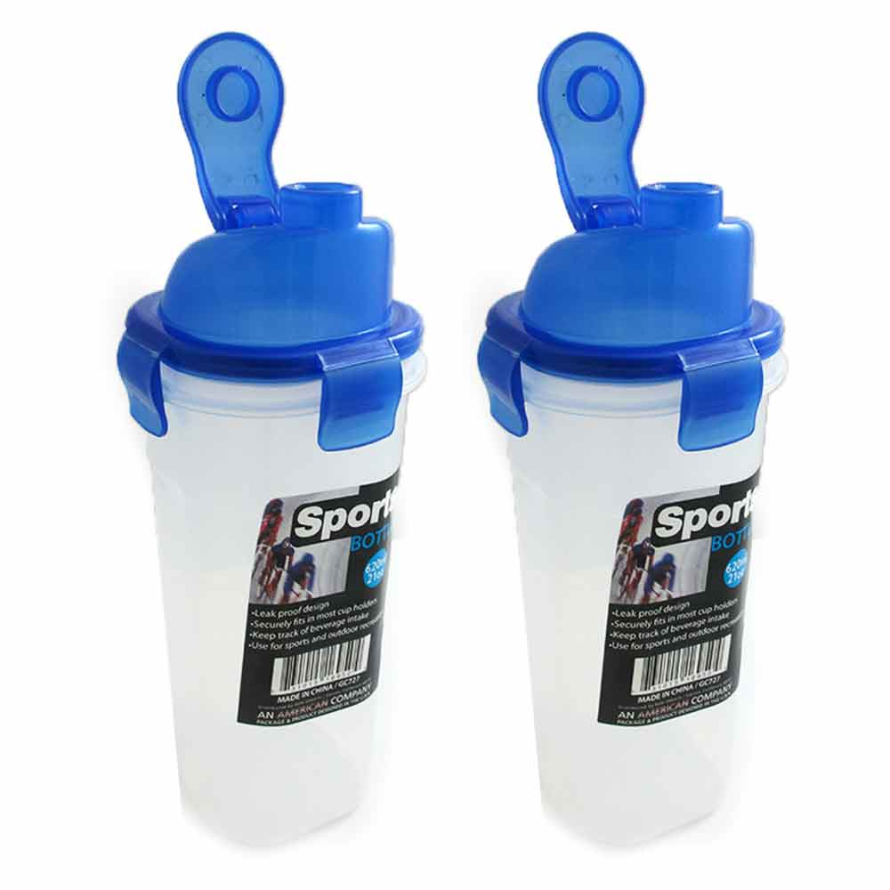 2 Portable Sport Water Bottle 21Oz Outdoor Travel Bicycle Bike Cycling Drink Jug