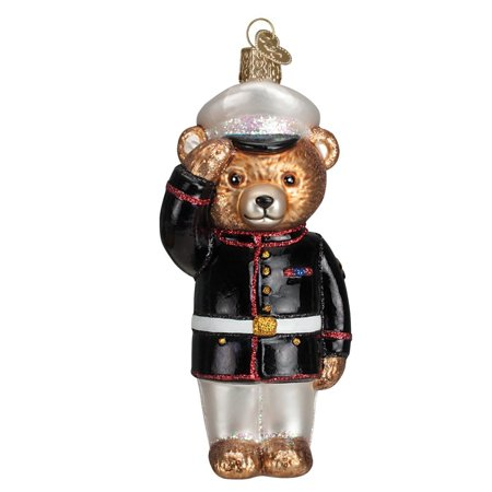 Marine Bear Glass Blown Ornament, Hand crafted in age-old tradition using techniques that originated in the 1800's By Old World - Hand Blown Glass Halloween Ornaments