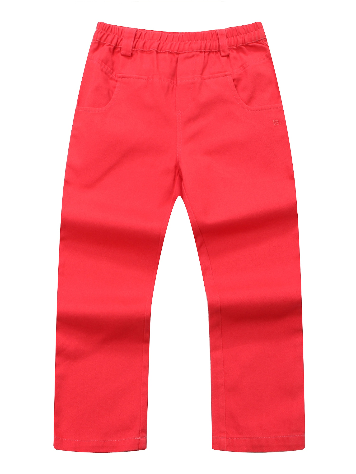 Richie House Girls' woven twill trousers with embroidery details RH1001
