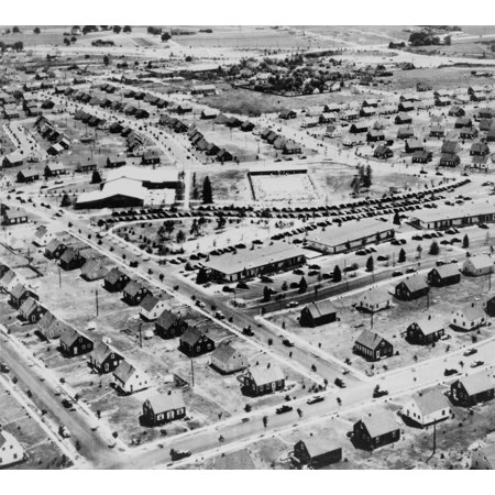 Aerial View Of Levittown New York In 1953 Levittown Was Named After William Levitt The Builder Of The Planned Suburban Community On Long Island New York Ca 1950 History](Suburban Community)