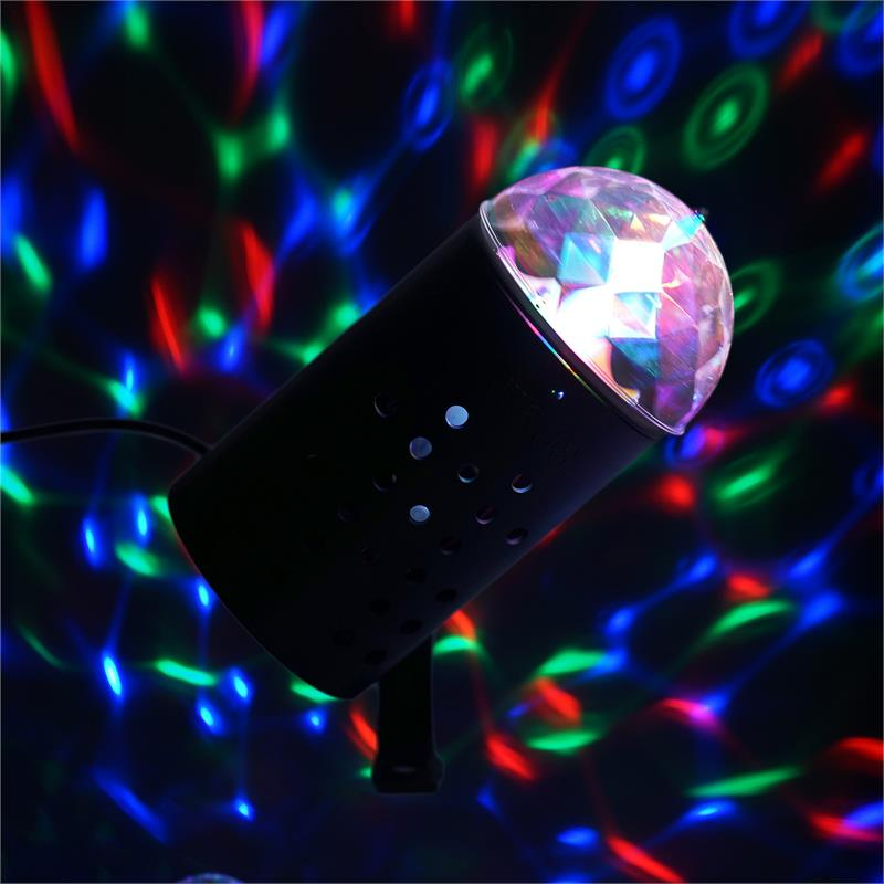 BalsaCircle Rotating LED Disco Ball Stage Spot Light Red Green Blue by