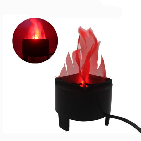 CJCMALL LED Fake Flame Effect Lamp Torch Light Fire Campfire Centerpiece with Pot Bowl for Christmas Halloween Prop Party (US - Halloween Torches