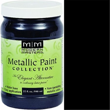 MODERN MASTERS ME700 1 qt. Black Pearl Metallic Paint - Semi Opaque