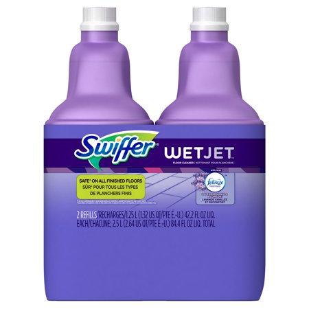 - Swiffer WetJet Multi-Purpose Floor Cleaner Solution with Febreze Refill, Lavendar Vanilla and Comfort Scent, 1.25 Liter, 2 Count