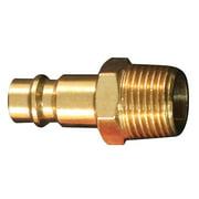 """Milton Industries MIL-762 1/4"""" Npt Male V-style Hi-flow Plug"""