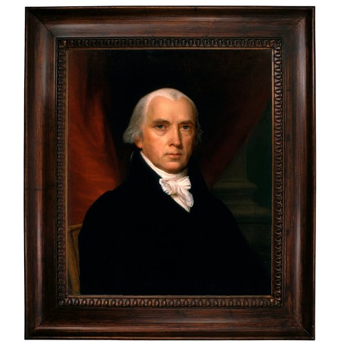 Darby Home Co 'James Madison' Framed Graphic Art Print on Canvas