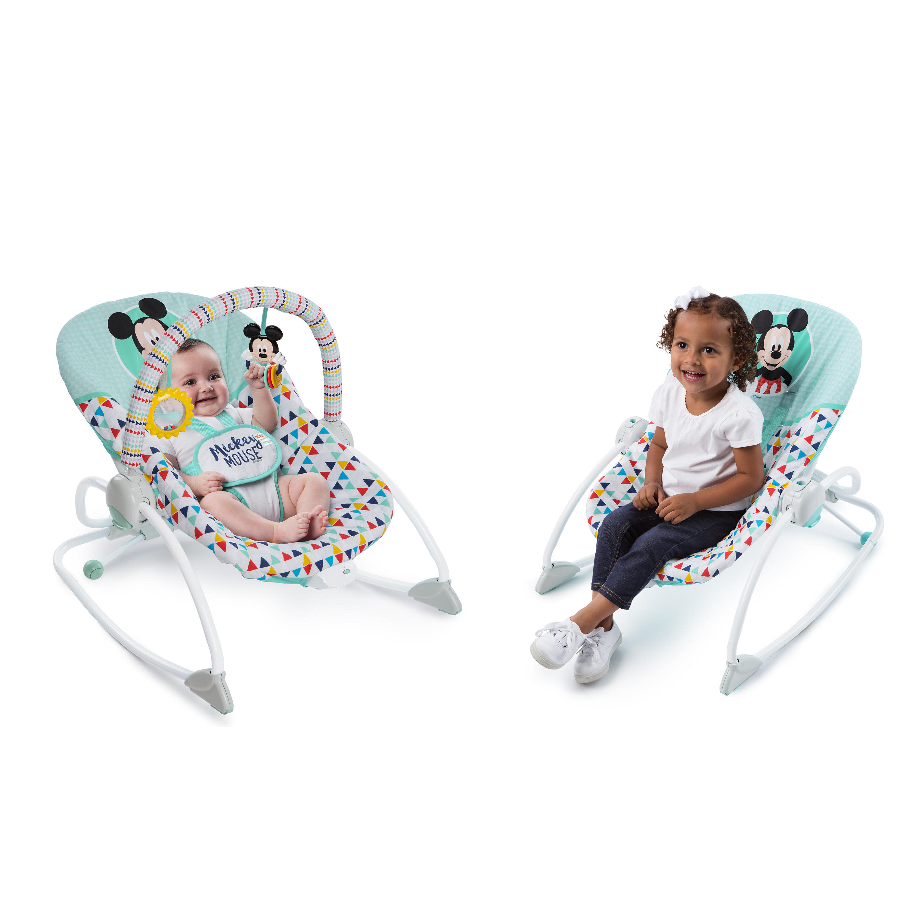 Disney Baby Mickey Mouse Infant to Toddler Rocker Seat - Happy Triangles