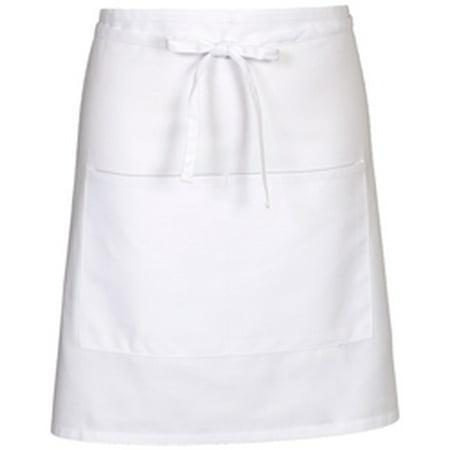 Fame Fabrics 81697 E28 WHITE BISTRO APRON ONE SIZE