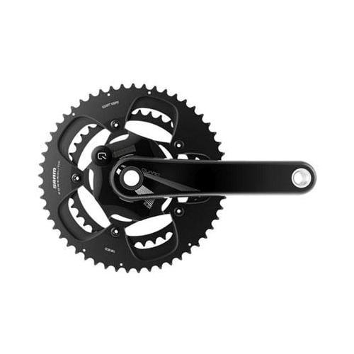 SRAM 2013 Quarq ELSA 10R Power Meter Mountain Bicycle Crankset - GXP - 130mm BCD (Black - 177.5 53/39 130mm BCD - BB Not