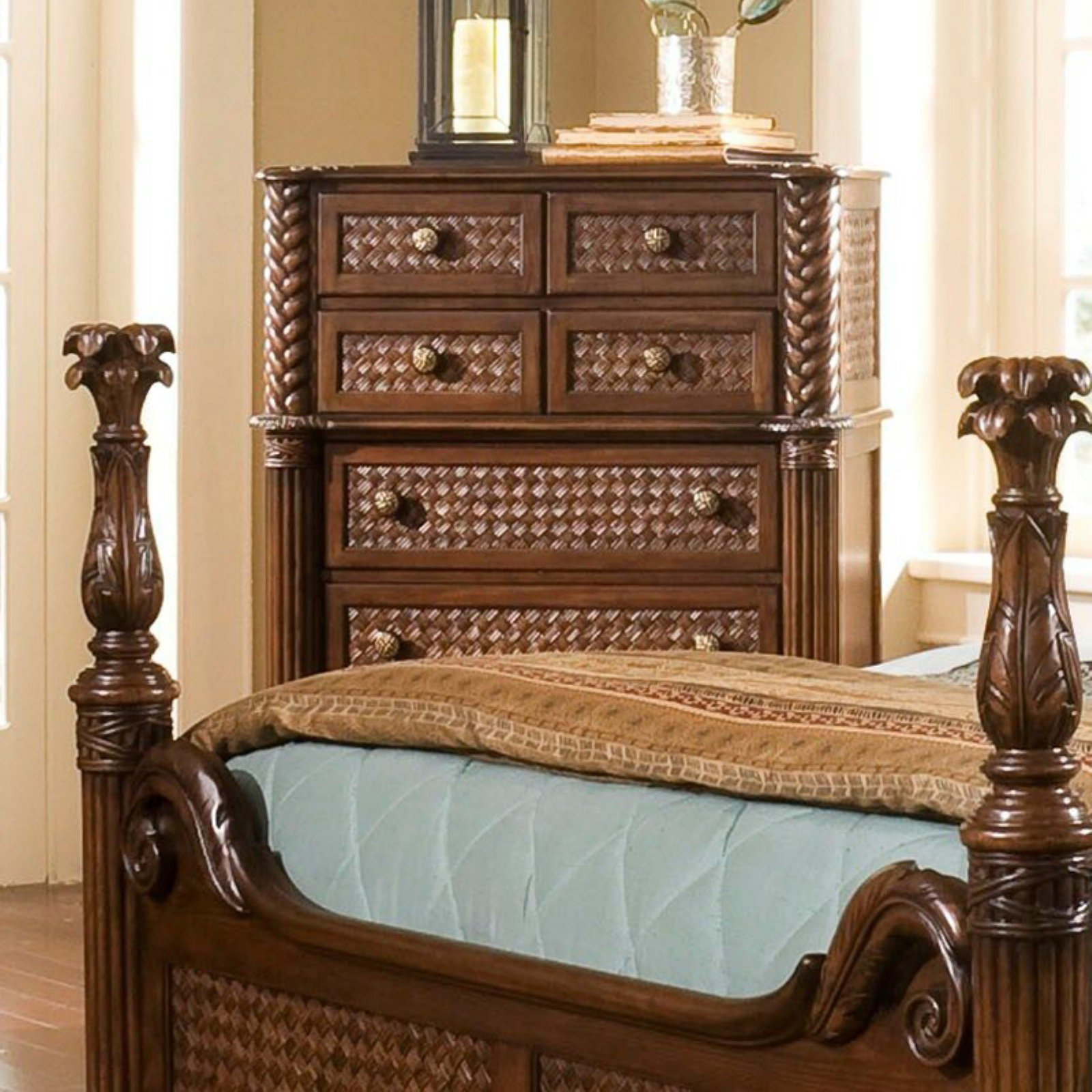 Progressive Furniture Palm Court II 7 Drawer Chest   Cocoa Brown