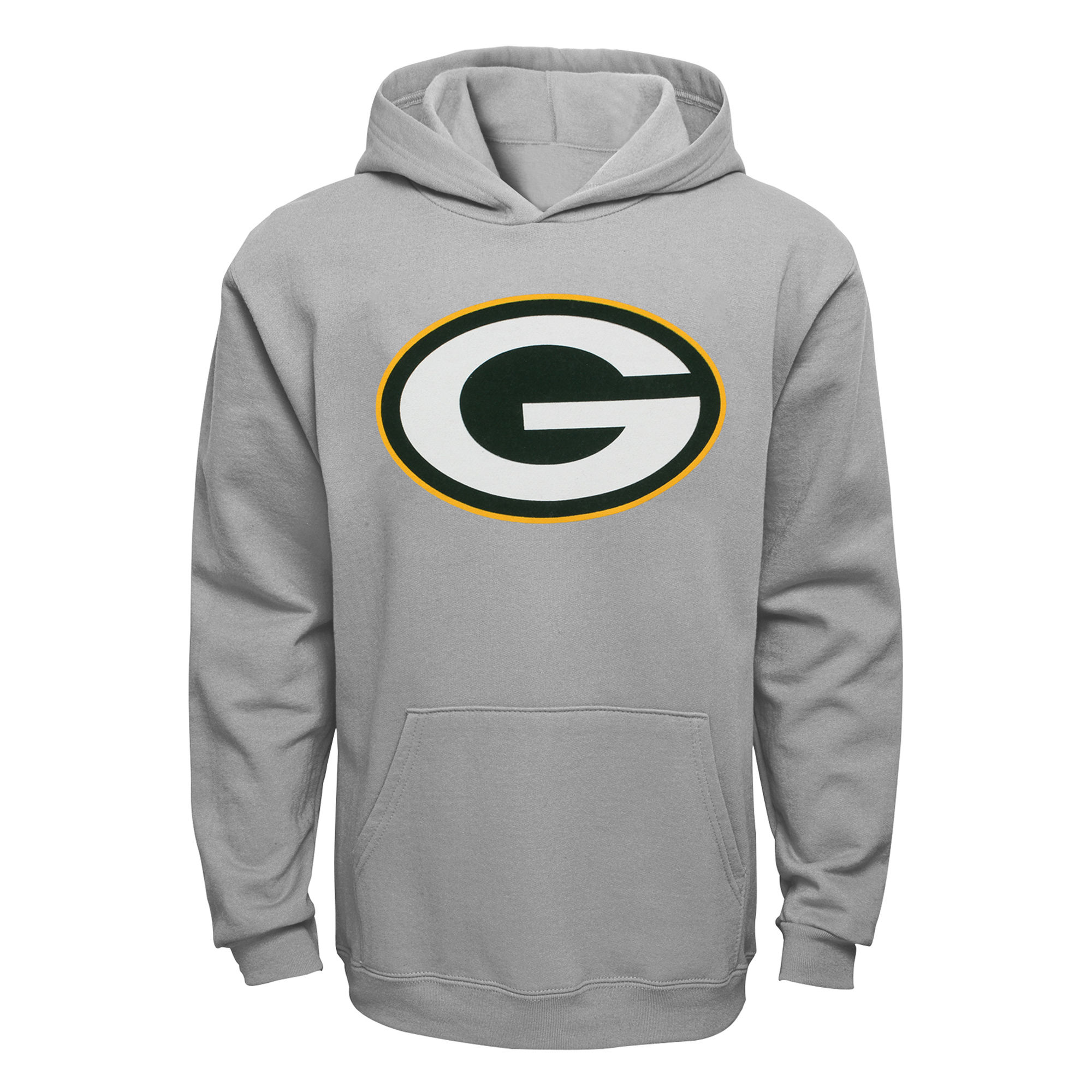 Youth Green Bay Packers Gray Current Logo Pullover Hoodie