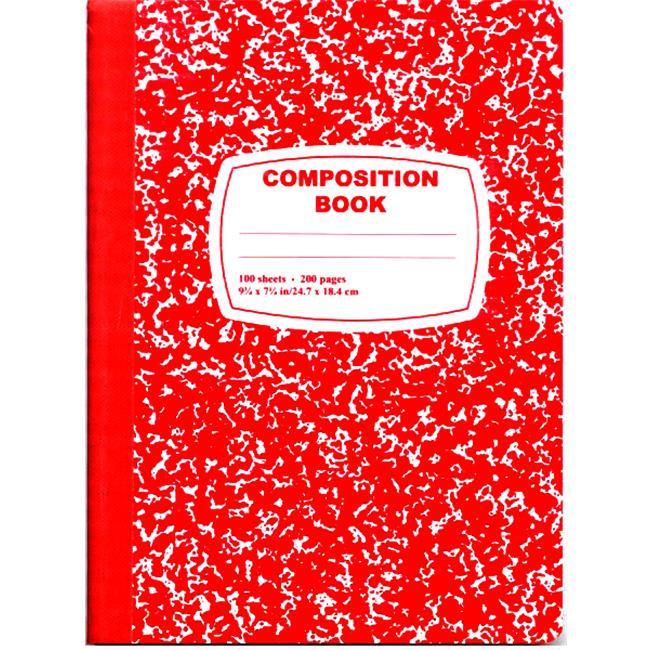 DDI 1276256 Red Composition Notebook - 100 Sheets Case of 48