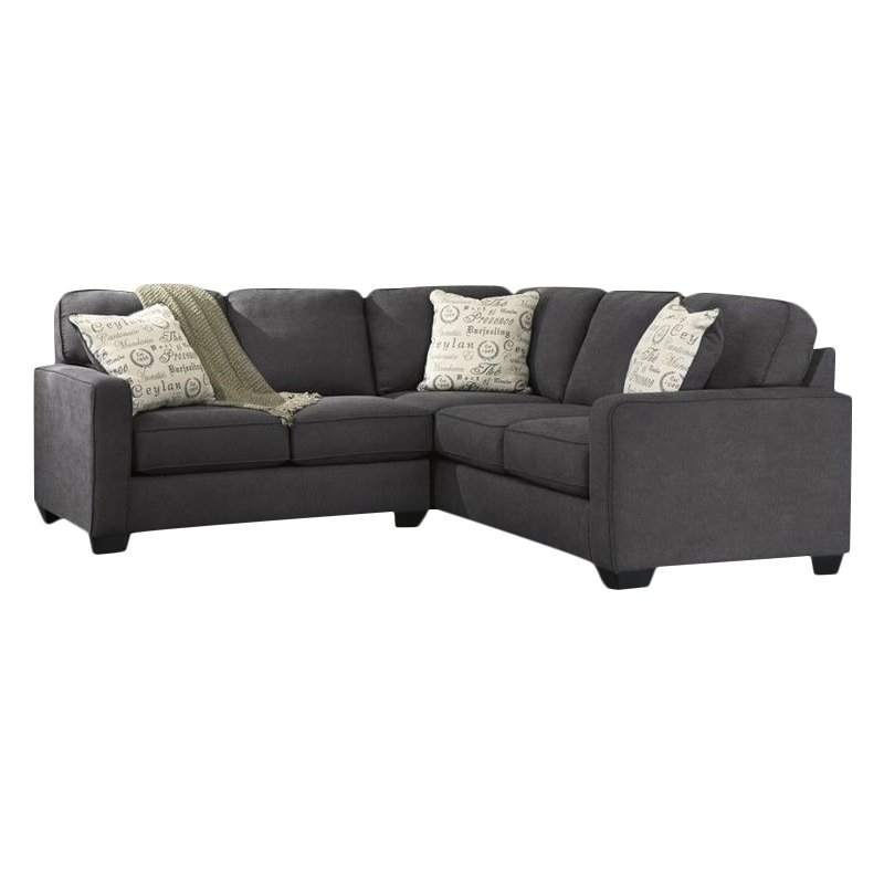 Ashley Furniture Alenya 2 Piece Sectional in Charcoal by Ashley Furniture