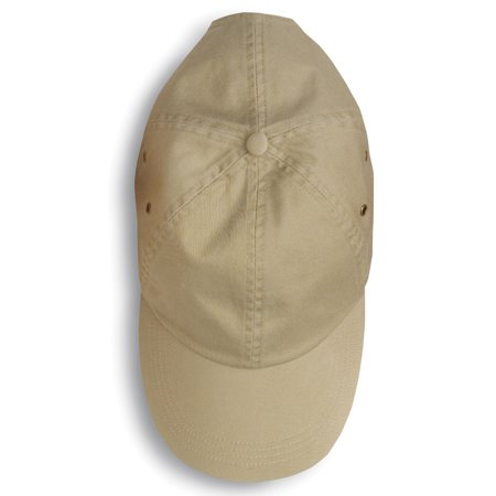 Anvil Solid Low Profile 6 Panel Unconstructed Twill Cap, Khaki, One Size
