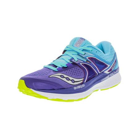 Saucony Women's Triumph Iso 3 Purple / Blue Cotton Ankle-High Running Shoe - 7.5W