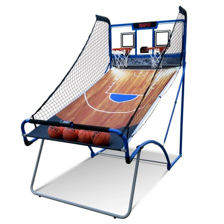 Espn Ez Fold 2 Player Basketball Game With Authentic Pc Backboard