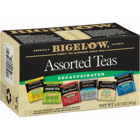 (2 Pack) Bigelow, 6 Assorted Decaf, Tea Bags, 18 Ct