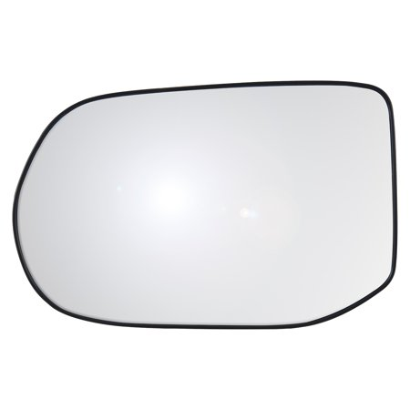 33303 - Fit System Driver Side Heated Mirror Glass w/ backing plate, Honda Civic Sedan EX-L, EX-L Navi Model (4 Door, foldaway) 08-11, 4 1/ 2