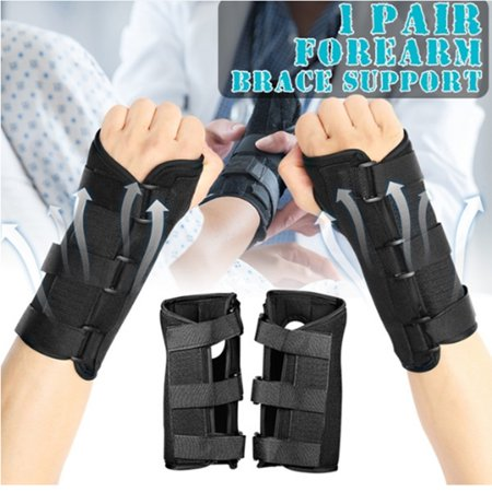 Wrist Splint, Breathable Hand Stabilizer Brace for Carpel Tunnel Syndrome, Tendonitis, and Acute Sprains, Black M, 1