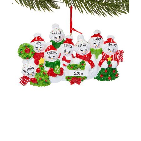 Personalised Christmas Ornaments (Snow Family 8 Personalized Christmas Ornament)