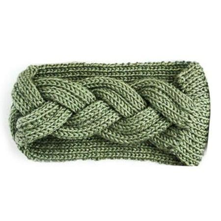 KABOER Warm Winter Wool Knitted Twist Headband  Women Crochet Twist Hair Knit Cap Head Wraps Earmuffs for Women Girls Hair Wrap Twist