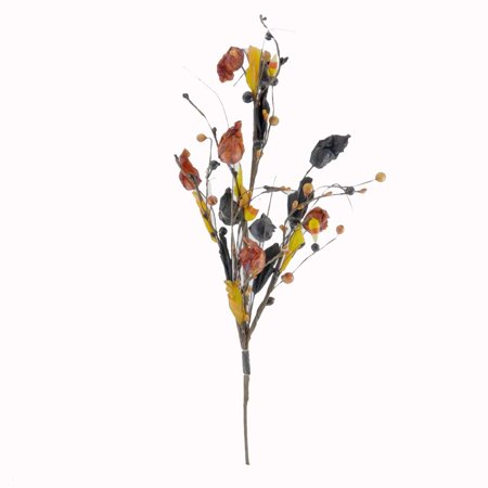 Halloween FALL LANTERN STEM Floral Silk Stems Halloween Candy Corn - Halloween And Fall Crafts
