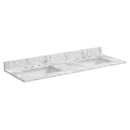 Foremost 61 in. Marble Vanity Top with - Foremost Vanity