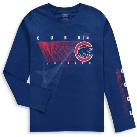 68a4fda17ec Chicago Cubs Majestic Youth Motion Meter Long Sleeve T-Shirt - Royal -  Walmart.com