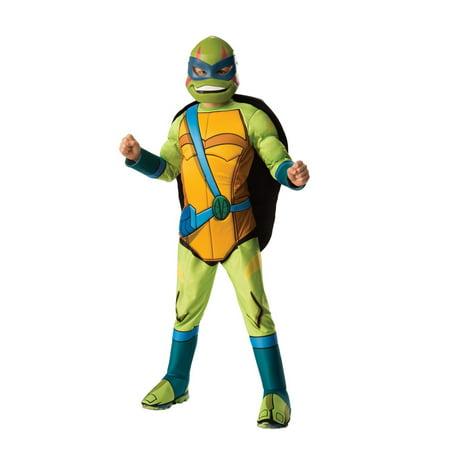 Halloween Rise of Teenage Mutant Ninja Turtles Deluxe Leonardo Child Costume](Teenage Halloween Games For Outdoors)