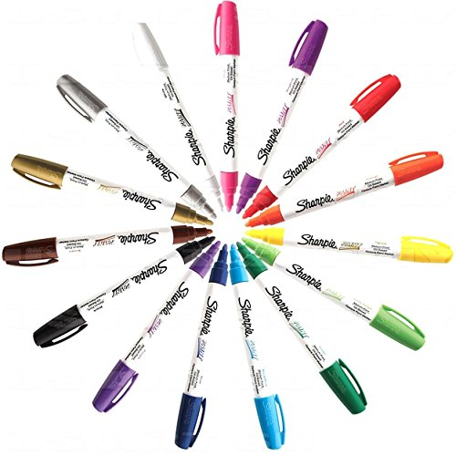 Sharpie Paint Marker Medium Point Oil Based All 15 Color Set