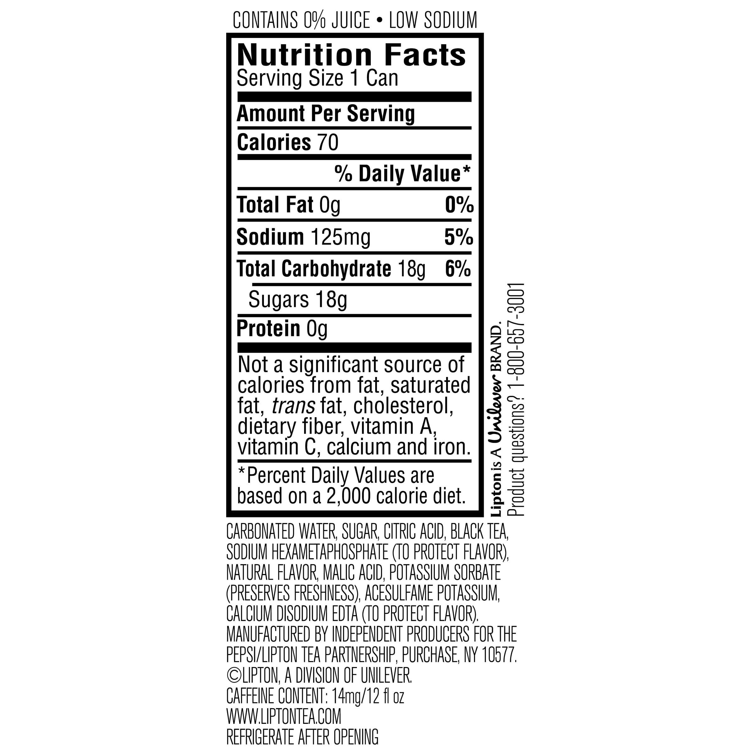 Lipton Tea Bags Caffeine Content
