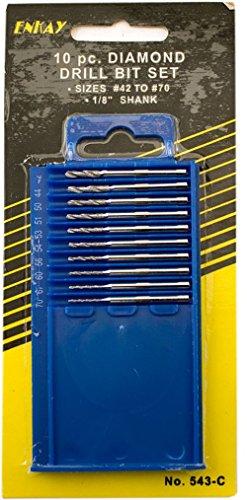 Enkay 543-C  Diamond Drill Set 10-Piece Carded Number 42-70
