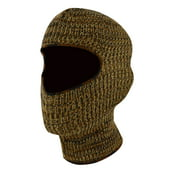 QuietWear Youth 1-Hole Knit Mask  Brown Camo