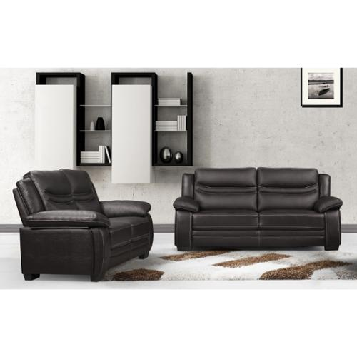 US Pride Furniture Winnie Bonded Leather Modern Sofa and Loveseat