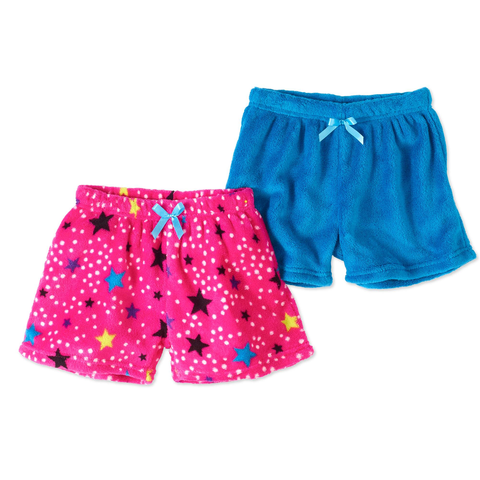 Chili Peppers Girls' 2-Pack Coral Fleece Shorts
