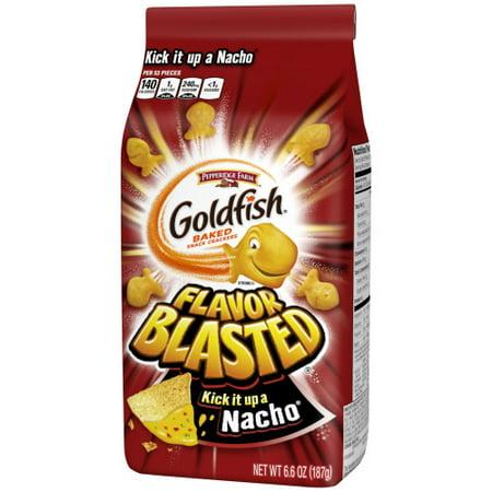 Pepperidge Farm Goldfish Flavor Blasted Kick It Up a Nacho Cheese Crackers, 6.6 oz. Bag - Customize Goldfish Bag