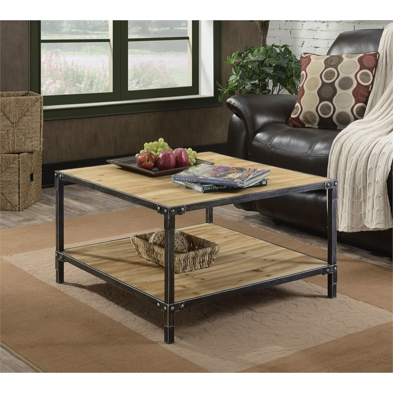 Convenience Concepts Laredo Square Coffee Table in Black - image 2 of 3