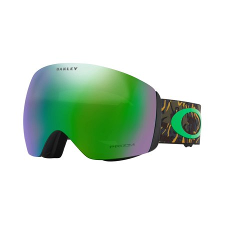 Oakley Men's Flight Deck (A) Snow Goggles, Camo Vine Jungle Prizm Jade Iridium ()