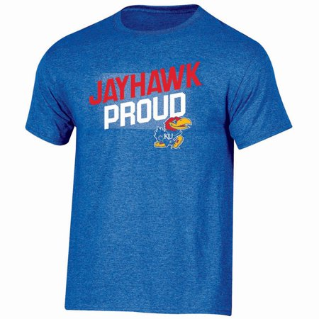 Men's Russell Royal Kansas Jayhawks Slant T-Shirt