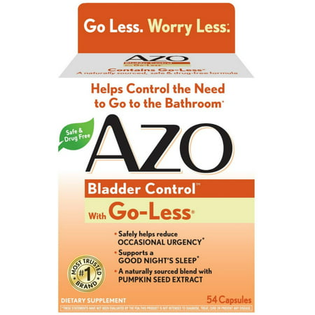 2 Pack - AZO Bladder Control with Go-Less Capsules 54 ea