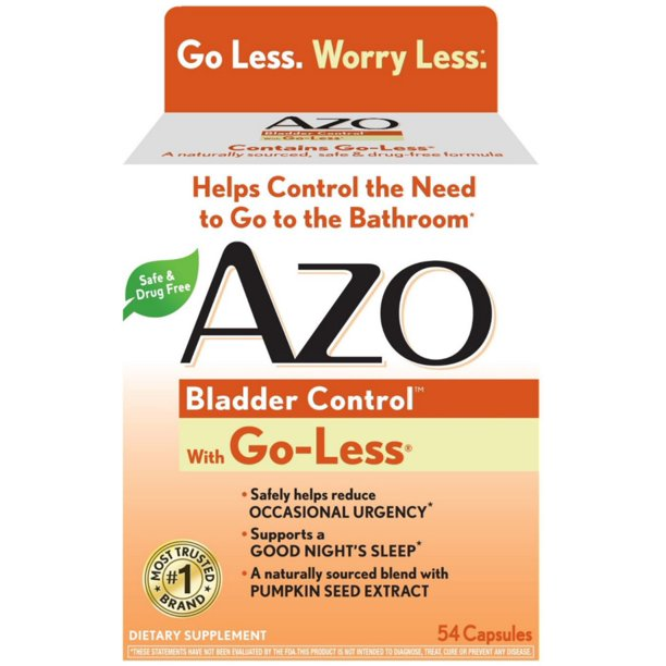 3 pack - azo bladder control with go-less capsules 54 ea