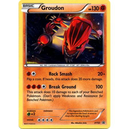 Pokemon X & Y Promo Single Card Rare Holo Groudon XY52