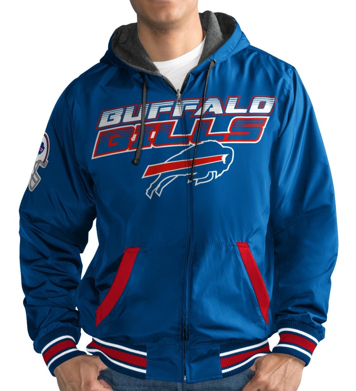 """Buffalo Bills NFL G-III """"Hot Shot"""" Full Zip Men's Reversible Sweatshirt"""