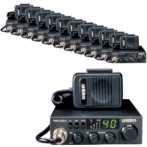Uniden PRO520XL CB Radio 12 Pack with ANL Switch and Squelch Knob by Uniden