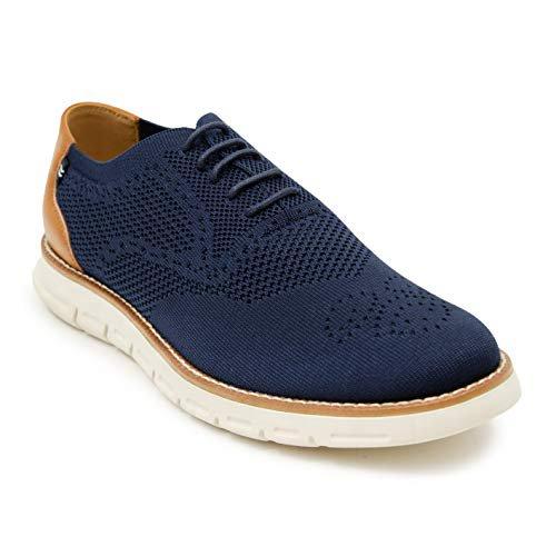 Nautica Men's Wrenwood Oxford Shoe Fashion Sneaker-Navy Knit-9.5