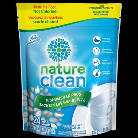Nature Clean 10-38018 Auto Dishwasher Pacs, 24 Count
