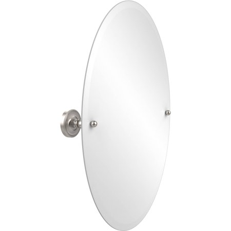 Frameless Oval Tilt Mirror with Beveled Edge (Build to Order)